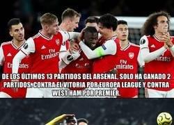 Enlace a La temporada del Arsenal en números es para darse de cabeza contra la pared