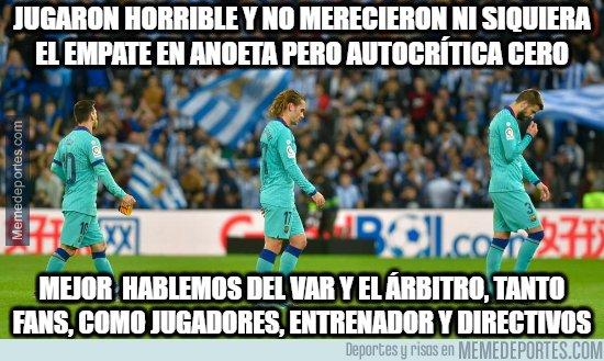 1093497 - En el  Barça intentan camuflar el horrible partido que jugaron en Anoeta