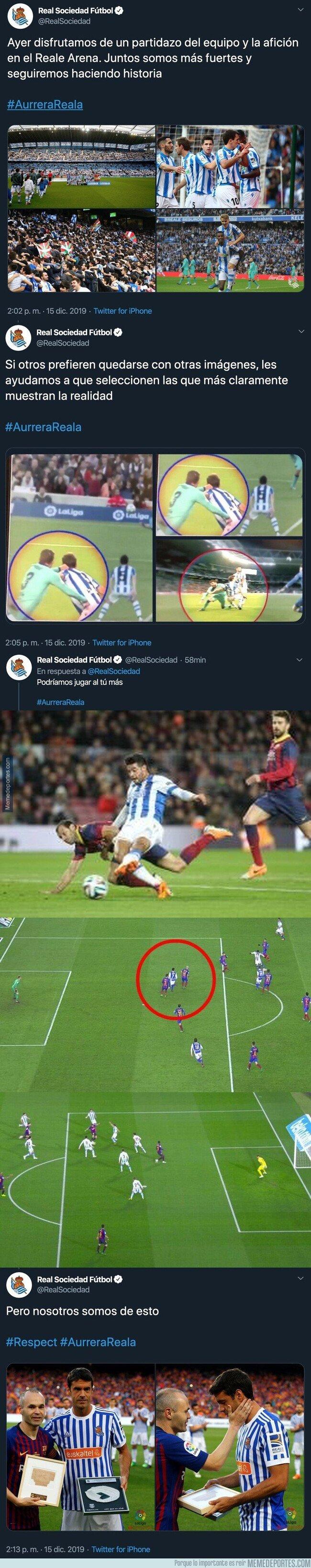 1093545 - La Real Sociedad le acaba de pegar un ZASCA monumental al Barça y a todos los culés que se quejan del arbitraje en Anoeta