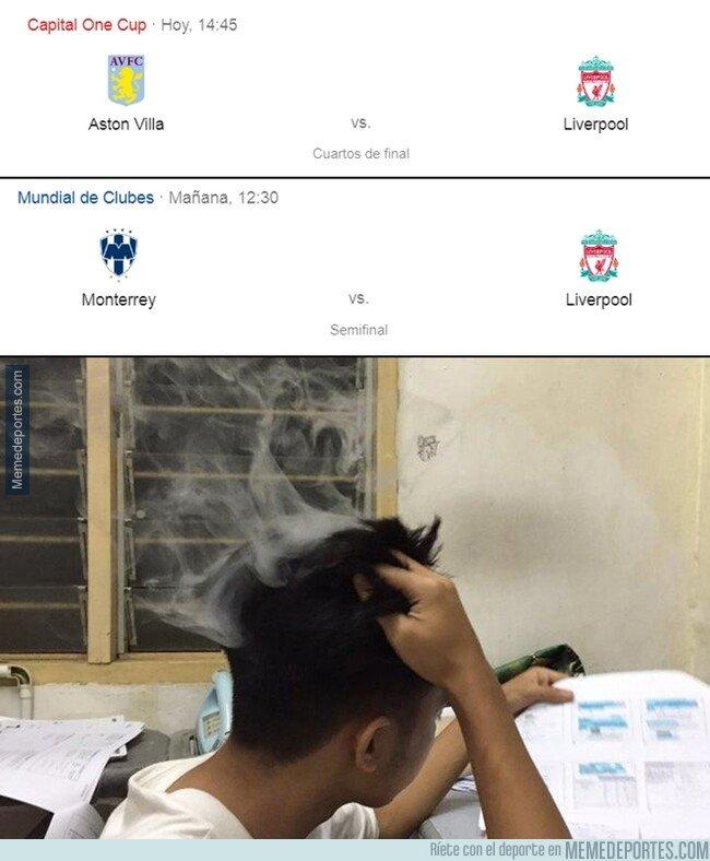 1093811 - El Liverpool juega hoy y mañana en 2 continentes diferentes. WTF