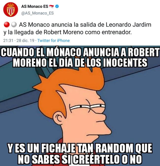 1094586 - Robert Moreno, nuevo entrenador del Mónaco