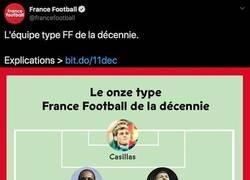 Enlace a Indignación máxima por el jugador que han elegido en el mejor XI de la década en 'France Football'
