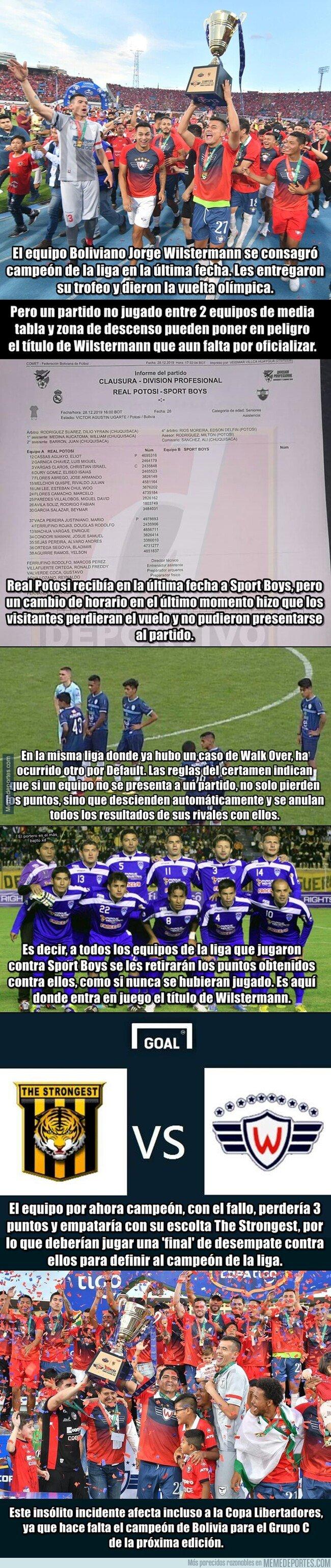 1094708 - Otra vez Bolivia: El campeón de la liga puede perder un título por un partido no jugado entre otros dos