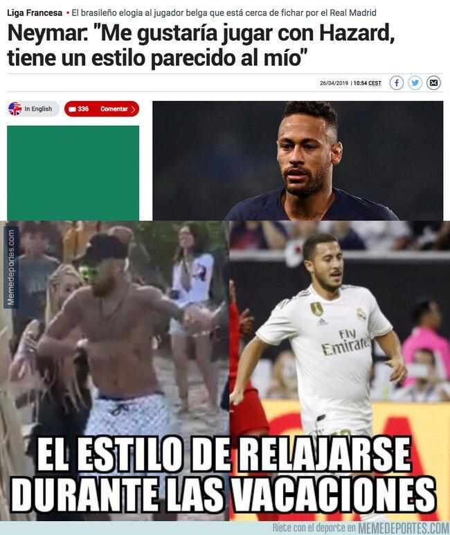 1094939 - Neymar y Hazard tienen un estilo parecido