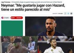 Enlace a Neymar y Hazard tienen un estilo parecido