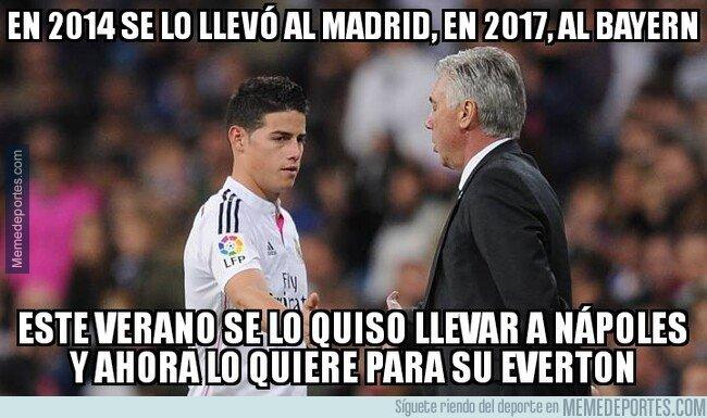 1095154 - La obsesión de Ancelotti con James Rodríguez