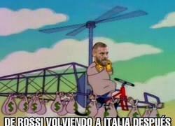 Enlace a De Rossi volviendo a Italia