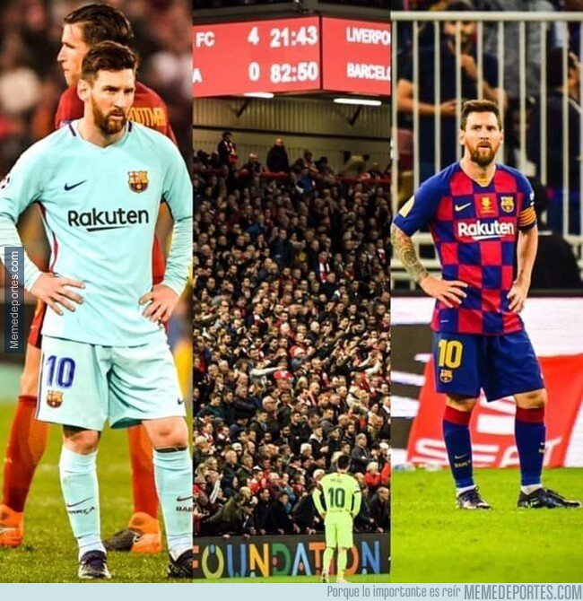 1095417 - Los culés ya están acostumbrandose ver a Messi así