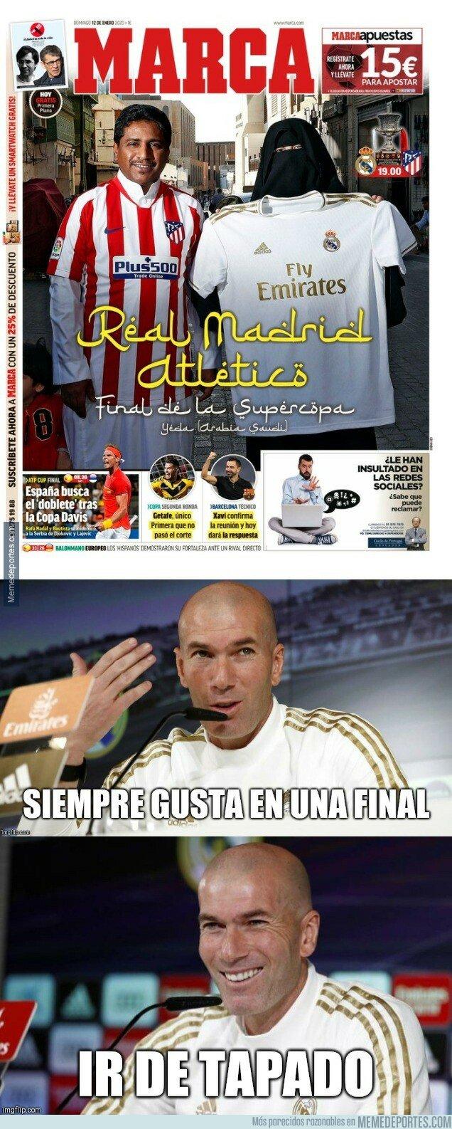 1095540 - Zidane tiene clara su opinión de la portada de Marca