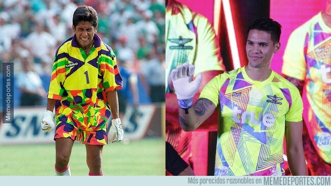 1095982 - El Bangkok United sacó un kit para porteros inspirada en Jorge Campos para encandilar a los delanteros