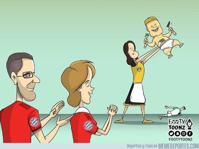 1096196 - El Bayern ya se frota las manos con Haland, por @footytoonz