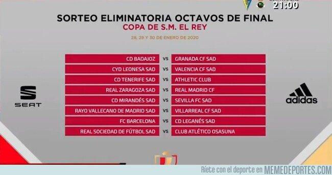 1096662 - Así queda el sorteo de Octavos de final de Copa del Rey