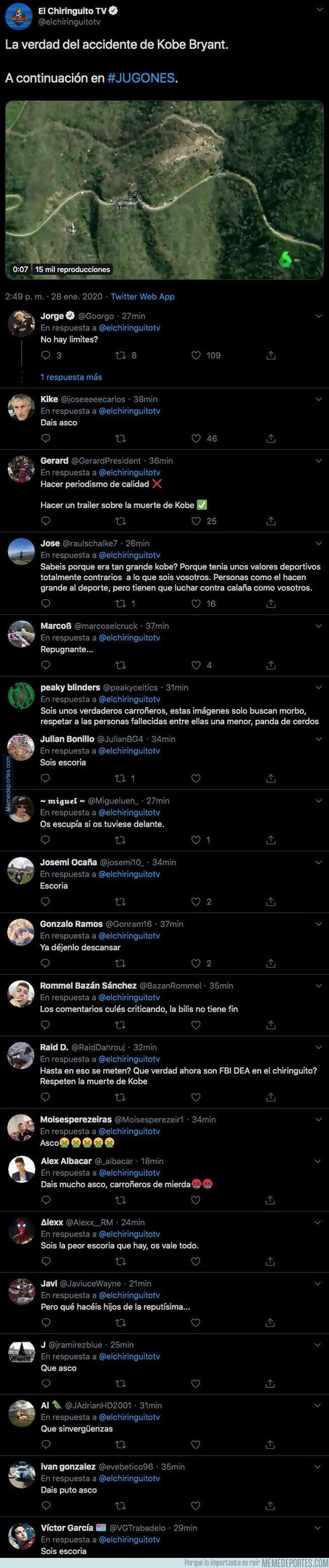 1096998 - Todo Twitter se ha unido a insultar a Josep Pedrerol y su programa por sacar esta información sobre Kobe Bryant tras fallecer