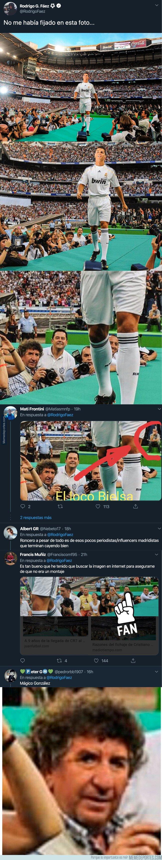 1097161 - Internet está totalmente revolucionado por esta foto que ha salido a la luz de la presentación de Cristiano Ronaldo por este detalle