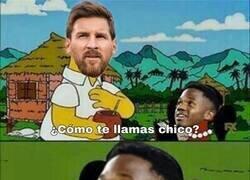Enlace a Se nota buena conexión entre Messi y Ansu