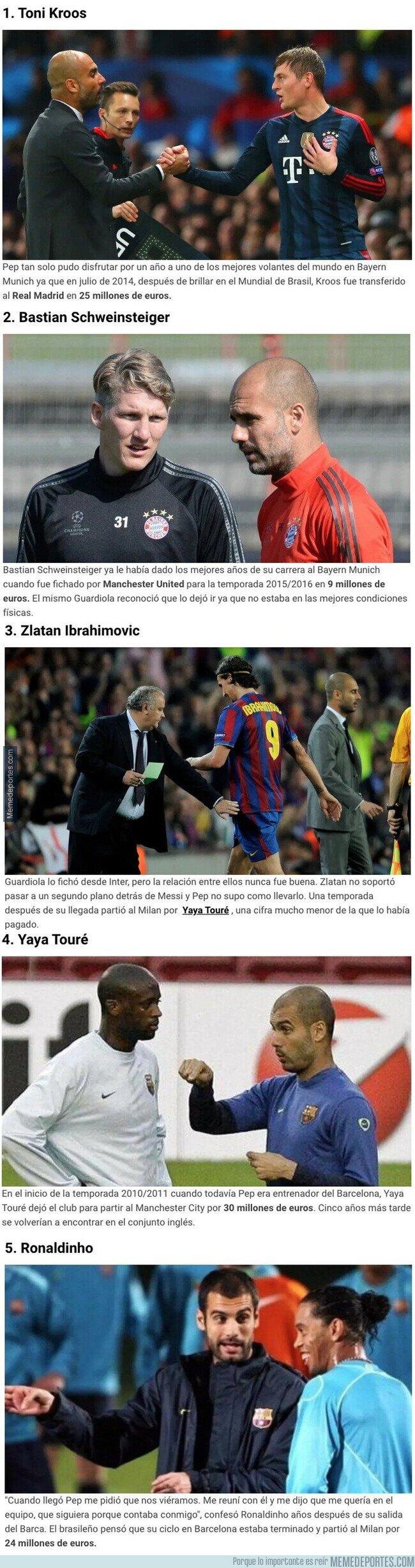 1097708 - Cinco grandes futbolistas que vendió Pep Guardiola
