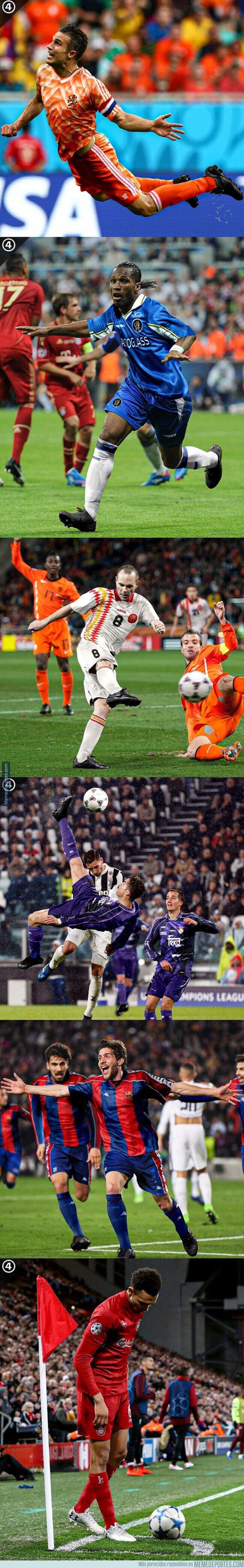 1098193 - Momentos épicos de la historia del fútbol con camisetas retro, por @433
