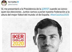 Enlace a Casillas se presenta oficialmente a la presidencia de la federación