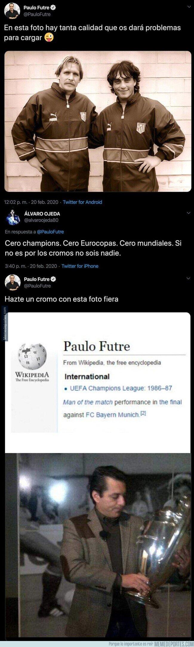 1098894 - Álvaro Ojeda intenta reírse de Paulo Futre por sus Champions y le responde de forma apoteósica dejándole en ridículo