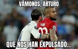 Enlace a Los octavos acabaron antes de tiempo para Vidal y Ramos