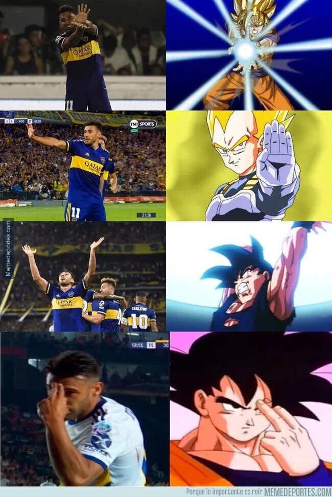 1099590 - Al Toto Salvio de Boca Juniors si que es un fan de Dragon Ball