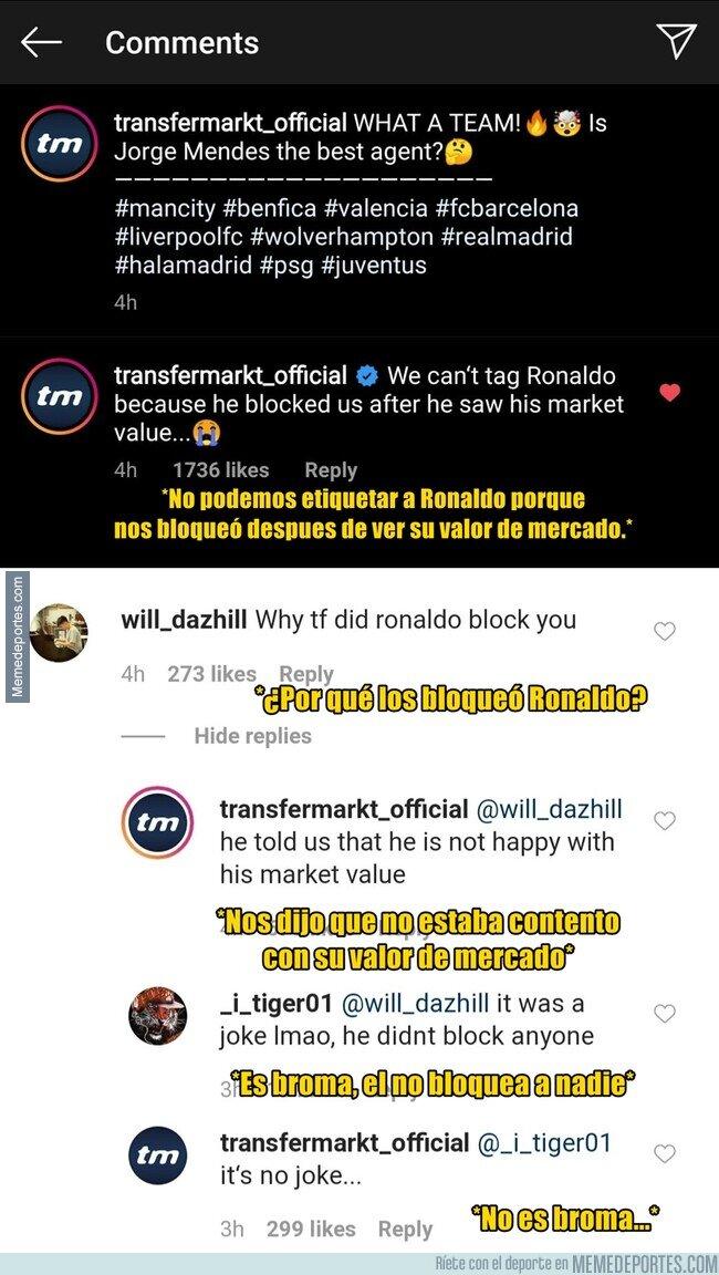 1099751 - Cristiano bloqueó a Transfermarkt en Instagram porque no le gustó su valor de mercado