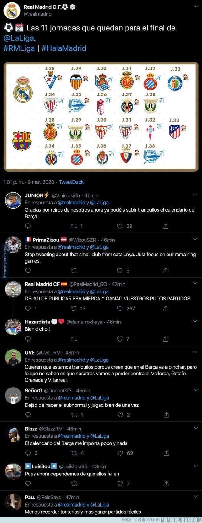 1100375 - Lío monumental: aficionados madridistas están indignados con su club por este tuit que acaba de escribir el Real Madrid
