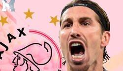 Enlace a El Ajax lanza un dardo a Sergio Ramos para recordar la victoria en el Bernabéu y el jugador madridista les destroza el club con esta respuesta