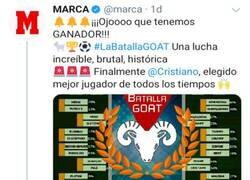 Enlace a Cristiano ganó la prestigiosa Batalla GOAT de Marca