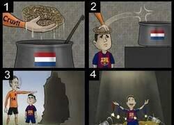 Enlace a Así cambió Cruyff la historia del Barça, por @zezocartoons