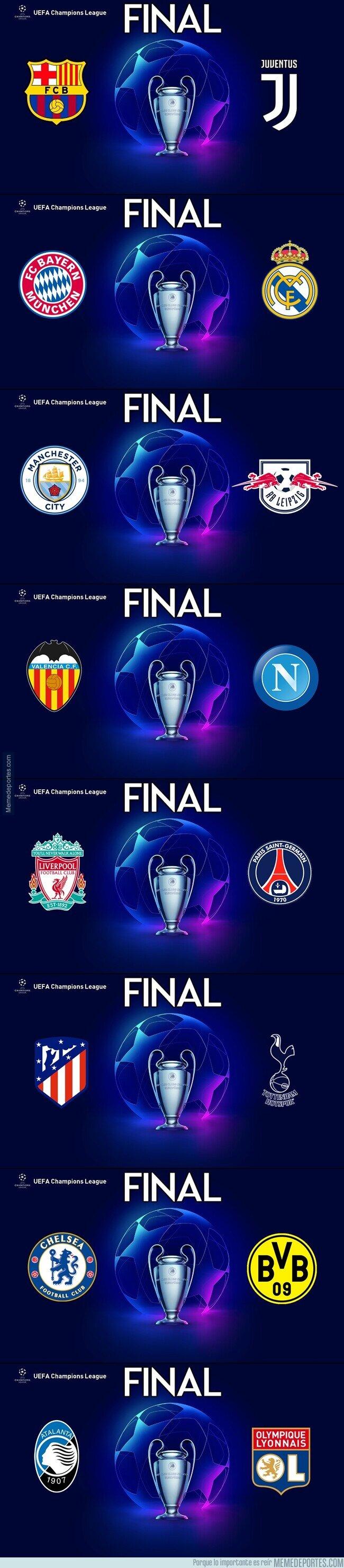 1105528 - ¿Cuál te hubiese gustado que fuese la final de Champions?