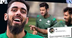 Enlace a Borja Iglesias le mete una respuesta enorme a un aficionado del Betis que se ríe porque apareció con las uñas pintadas de negro en el último entrenamiento