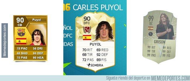 1106227 - La impecable evolución de Puyol en el FIFA