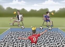 Enlace a Lewandowski no puede parar de marcar de goles, por @zezocartoons