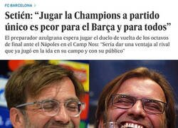 Enlace a La Champions a partido único evitaría las humillaciones del Barça