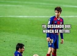 Enlace a No te retires nunca Messi