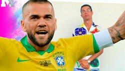 Enlace a Le preguntan a Dani Alves qué le parece el nuevo y extravagante look de Cristiano Ronaldo y no se corta un pelo en responder