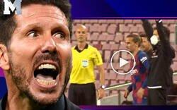 Enlace a Brutal: La cara que puso Simeone al ver que Griezmann entraba al campo para 3 minutos