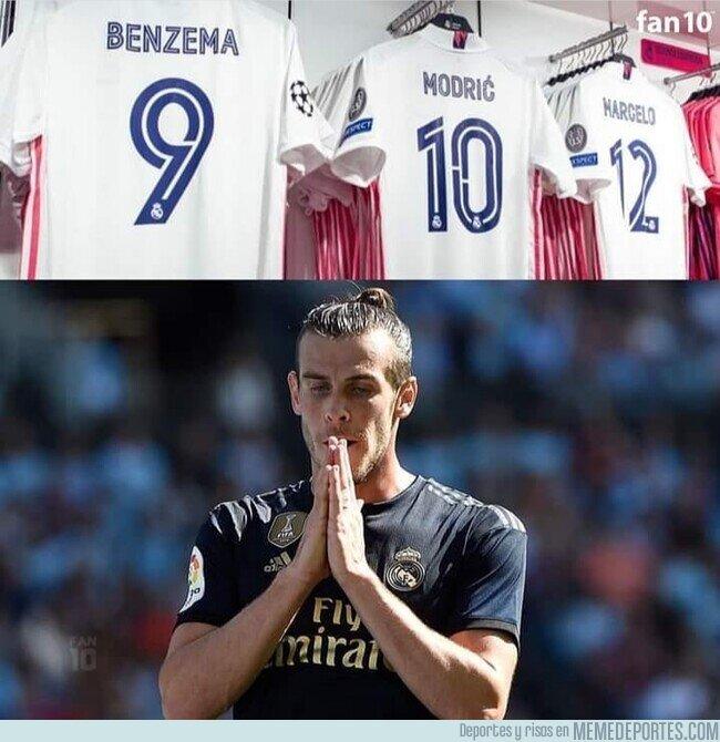 1111010 - La camiseta de Bale se queda fuera de la tienda