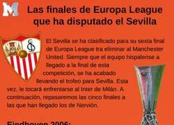Enlace a Las finales de Europa League que ha disputado el Sevilla
