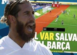 Enlace a El doble rasero increíble del diario MARCA cuando el VAR favorece al Barça y al Madrid