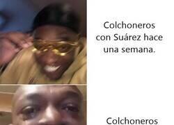 Enlace a Queridos Colchoneros, les presento la irregularidad de Luis Suárez.