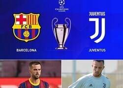Enlace a Barça vs Juve en fase de grupos. Desde ya, el mejor partido de todos