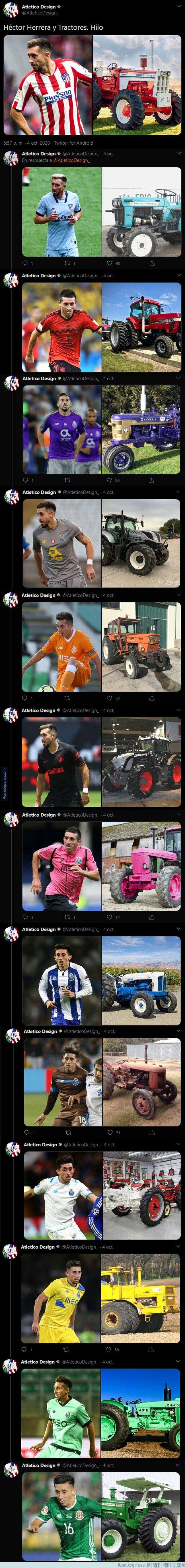 1117362 - El hilo que necesitabas en tu vida y no lo sabías en el que compara a Héctor Herrera con tractores