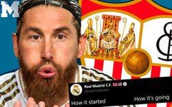 Enlace a El descomunal ZASCA del Sevilla al Real Madrid en Twitter por como dicen que empezó todo en su carrera