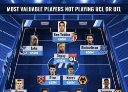 Enlace a El 11 más valioso de jugadores que no juegan Champions ni Europa League