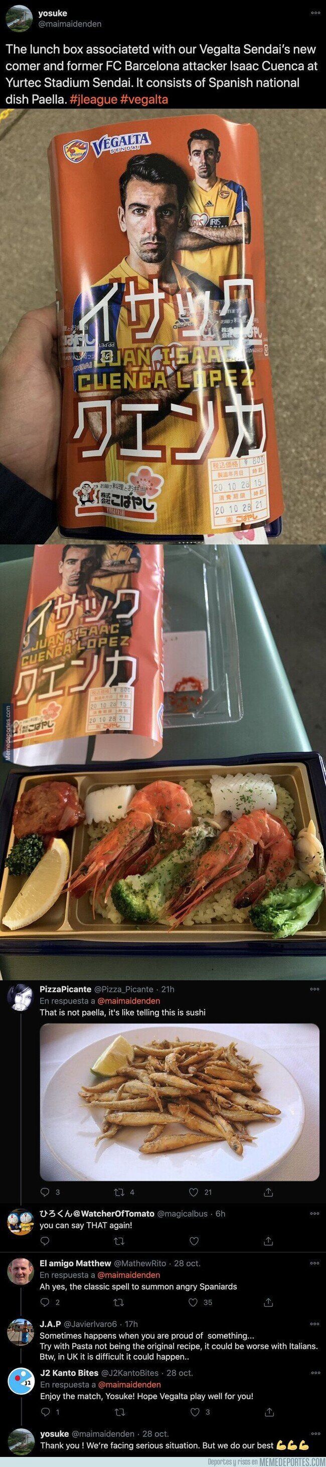 1119283 - Todo el mundo se está riendo por el producto de alimentación que Isaac Cuenca es imagen en Japón