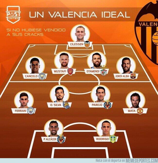 1119669 - El 11 que tendría el Valencia si no hubiera vendido a sus estrellas, por @postutd