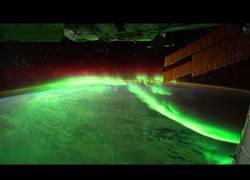 Enlace a Aurora vista desde la Estación Espacial Internacional