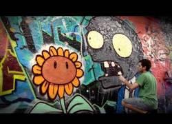Enlace a Graffiti de Plantas vs Zombis